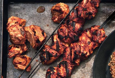 Kebab Chicken marinated in yogurt Delicious recipe of grilled chicken ...