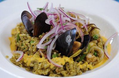 Mussel shrimp rice